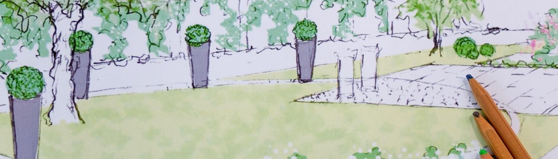 Progetto di giardino realizzato a mano libera