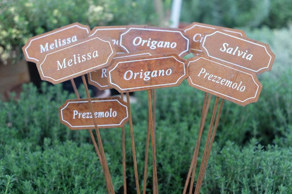 targhette segna piante